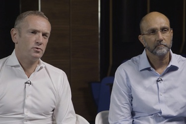 Naspers CEO Bob van Dijk and Video Entertainment CEO Imtiaz Patel