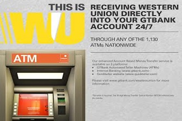 GTBank introduces Western union funds via ATMs