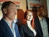 Opera's Murray Neil Spark and Jo Crawshaw, PayPorte's Eyo Bassey