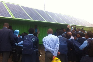 Ugesi Gold and EnergyNet's off-grid energy solution starts generating power at SA school