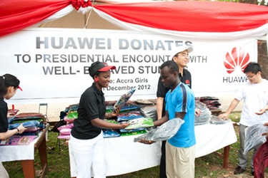 Huawei supports Ghana Presidential Encounter students