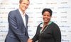 Jumia MD Sam Chappatte (left) and Ann Kirima, Chair of the Kenya Investment Authority