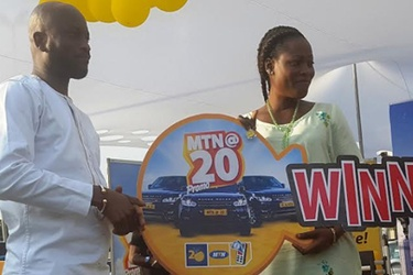 MTN Ghana present prizes to 20TH Anniversary Promo Winners