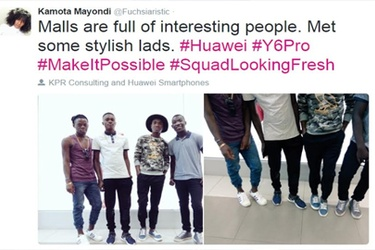 Blogger Kamota Mayondi takes Huawei Y6 Pro for a spin