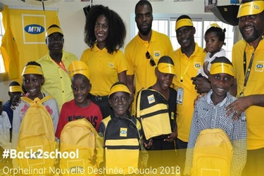 MTN Foundation delivers back to school support for children in Cameroon