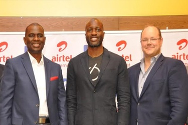 Airtel's Segun Ogunsanya, with Ime Archibong and Markku Makelainen of Facebook