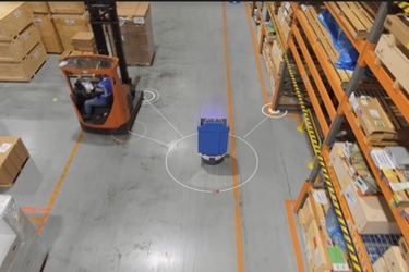 Mobile robots designed to work alongside warehouse teams