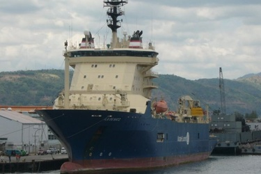 Alcatel-Lucent's cable laying ship