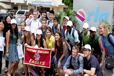 US students tour Rlg Ghana