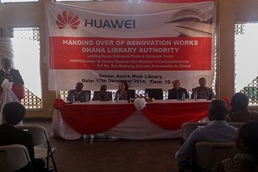 Huawei Ghana refurbishes Accra Central Library