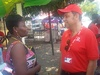 Vodafone Ghana CEO interacts with customer on the streets of Accra