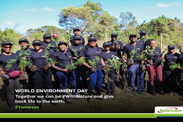 Safaricom marks World Environment Day with new eco-friendly bags