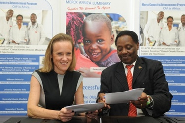 Belen Garijo, CEO and president of Merck serono and Prof. Solomon Mpoke, Director and CEO of KEMRI