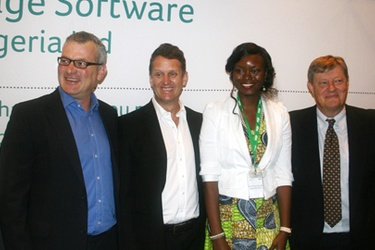 From left: Steven Cohen, Anton Van Heerden, Damilola Ajibade and Jeremy Waterman
