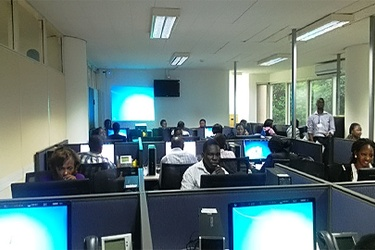 BPO training for Ugandan students