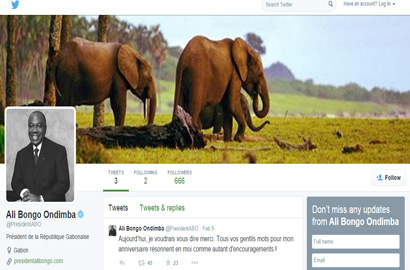 Gabon head of state joins Twitter