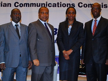 ATU Secretary General Abdoulkarim Soumaila, NCC head Eugene Juwah, Minister Omobola Johnson, and Desire Karyabwite of the ITU