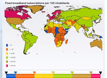 ITU's statshot - fixed broadband subscriptions per 100 people