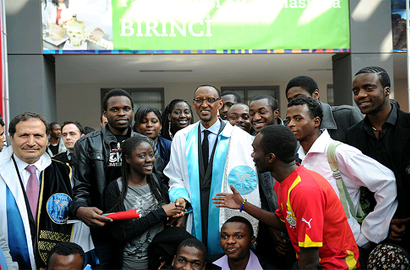 Rwandan President Paul Kagame during his visit to Istanbul