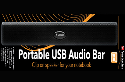 Verbatim Portable USB Audio Bar takes laptop sound to new levels