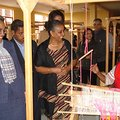 First Lady Roman Tesfaye (front) visiting women undergoing entrepreneurship training