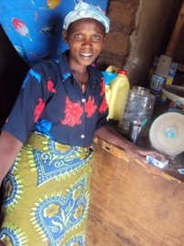 Stephanie, a Rwandan widow and one of the entrepreneurs to benefit