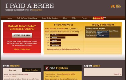 Kenyans highlight bribery on new site