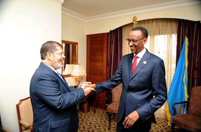 Rwanda, Egypt hold talks at AU Summit