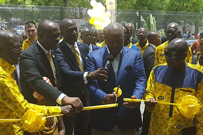 Ghana's President unveils MTN House in Accra