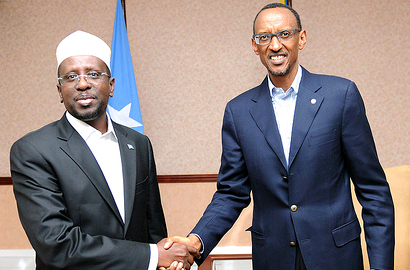 Rwanda, Somali Presidents hold talks