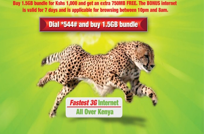 New Safaricom bundle for 'all night browsing'