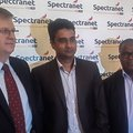 Spectranet's David Venn, Davendra Singh and Mike Ogor in Lagos