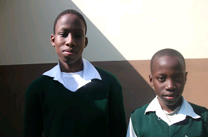 Sakhiwe Shongwe and Bonkhe Mahlalela from Lusoti High School in Swaziland