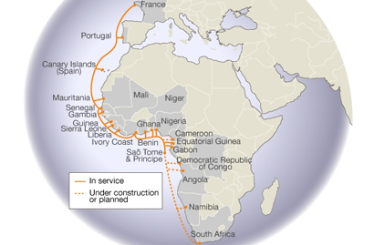 Sao Tom Principe to Cape Town segment of ACE cable launched