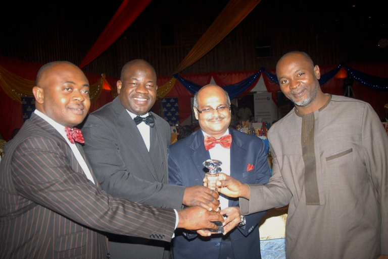 (from left) Emeka Oparah; Dokun Oye; COO and Executive Director, Airtel Nigeria, Deepak Srivastava and Wole Abu