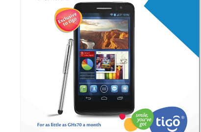 Tigo launches Alcatel One Touch Scribe HD in Ghana