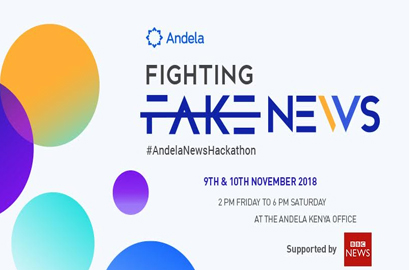 "Andela to fight ""Fake News"" with 24-Hour Hackathon"