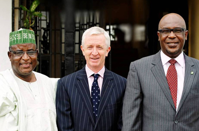 APCON CE Alhaji Bello Kankarofi; Etisalat Nigeria CEO Steven Evans and Chairman of the APCON governing council Lolu Akinwunmi