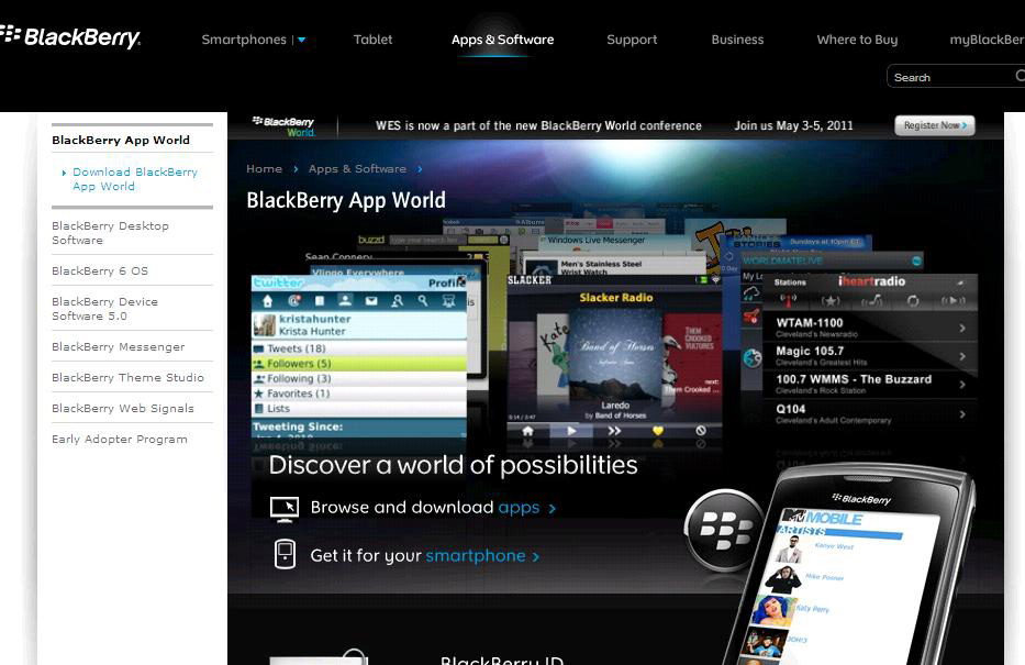 BlackBerry App World in more African countries