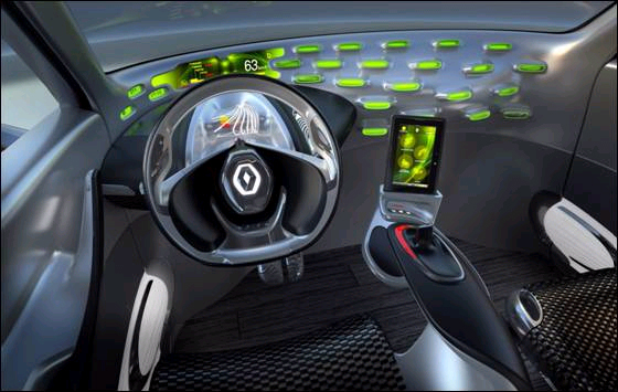 BlackBerry's PlayBook in the concept Renault FRENDZY