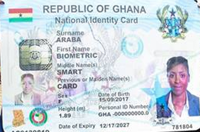 Ghanaians to be issued with new smart Ghana Card in November