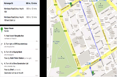 Google Maps – now for walking