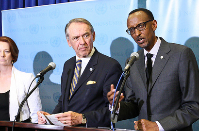 President Paul Kagame at the UN General Assembly