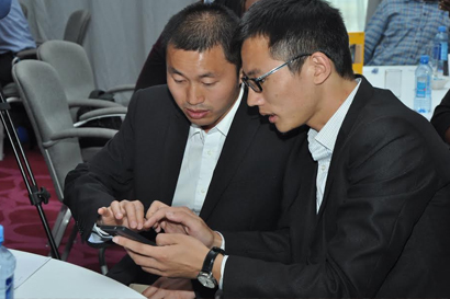 Kilimall International MD Robin Xie and Infinix Country Manager Carter Tang