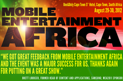 App developers stand to win tickets to Mobile Entertainment Africa 2012