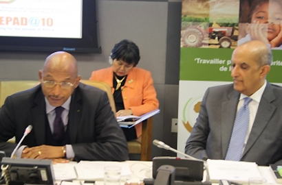 NEPAD Agency CEO Dr Ibrahim Mayaki, Under-Secretary-General and Special Adviser on Africa, Maged Abdelaziz