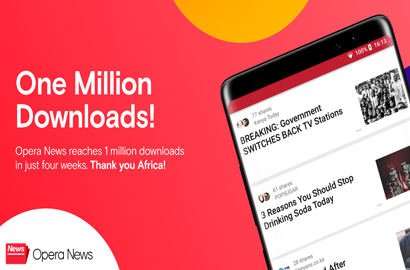 Opera News reaches 1m downloads in just four weeks