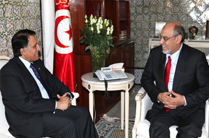 His Excellency Sheikh Abdullah Bin Mohammed Bin Saud Al-Thani, Chairman of Qtel, met with Tunisian Prime Minister Hamadi Jebali