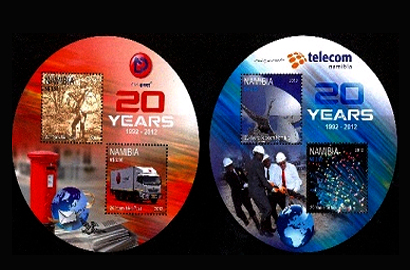 Telecom Namibia marks 20 years with commemorative stamps