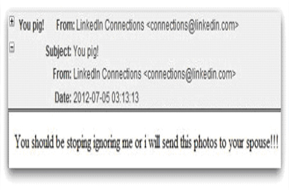 Malware mails pose as incriminating photos